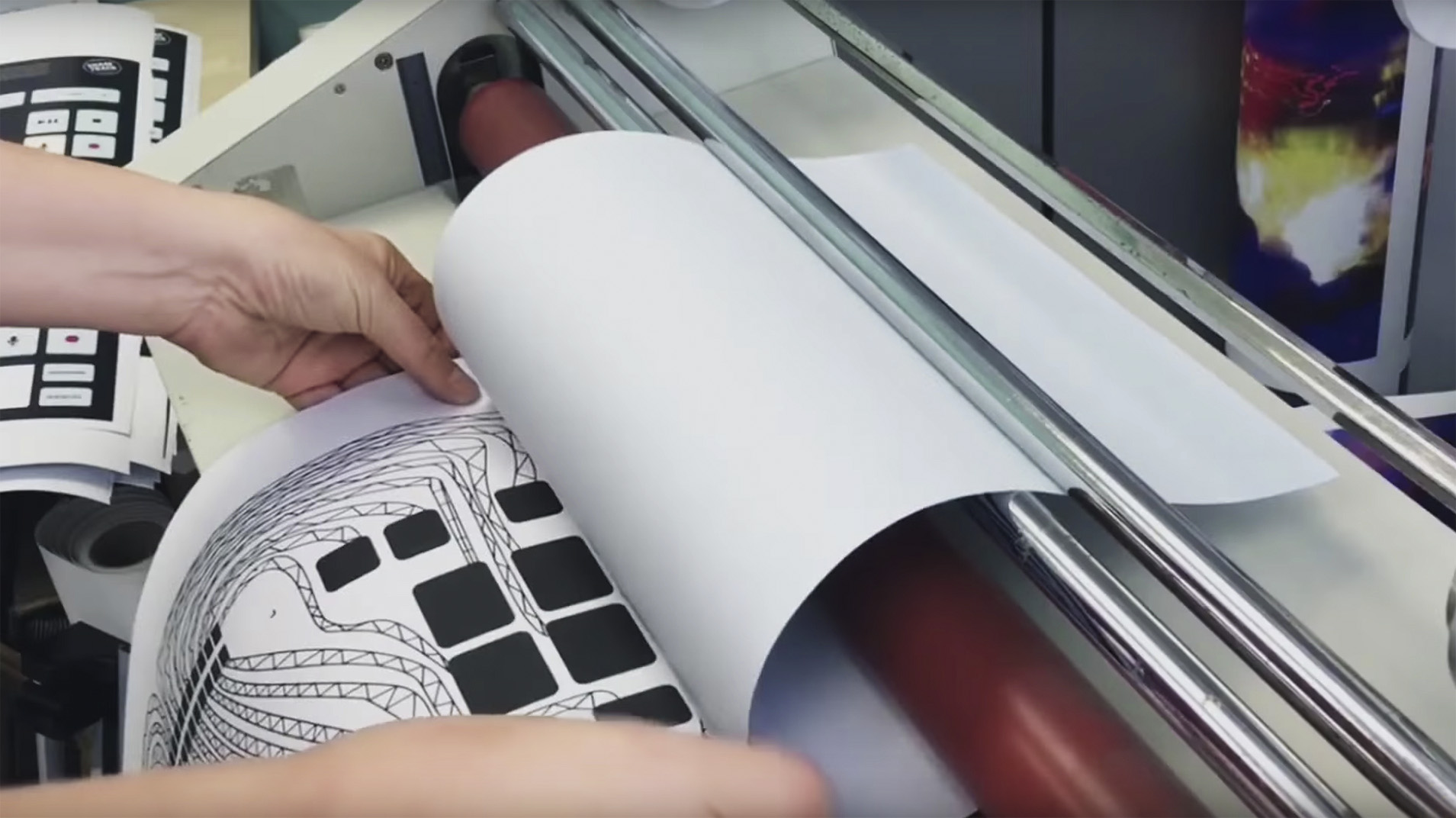 The process of making the interactive paper tray liner for McTrax