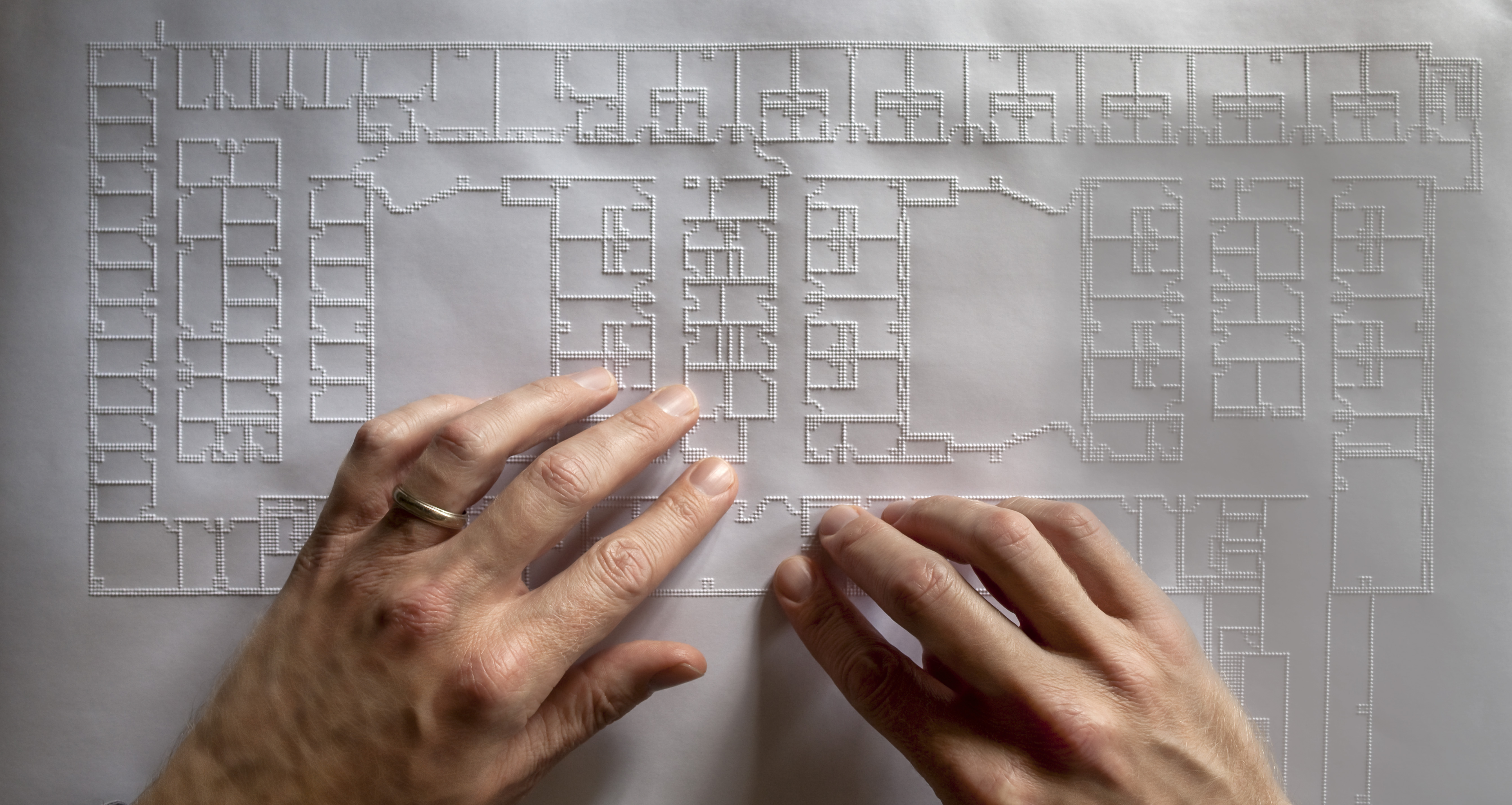 A tactile architectural plan from an embossing printer